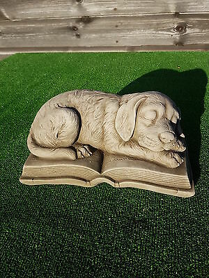 concrete dog memorial,pet memorial,grave ornament,price includes delivery 6kg