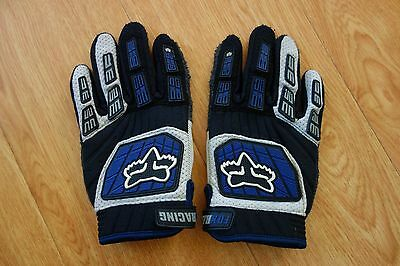 Fox Racing Gloves Youth Blue Black White