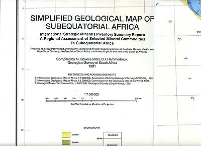 Geological & Mineral Inventory Maps of Subequatorial South Africa 1991
