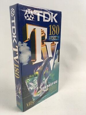 TDK SEALED 180 Video TV VHS CASSETTE TAPE NEW 180 Minutes/3 Hours