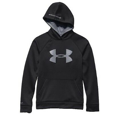 Under Armour Boys Fleece Storm Hoodie 1259690-003 - Black/Reflective - Small