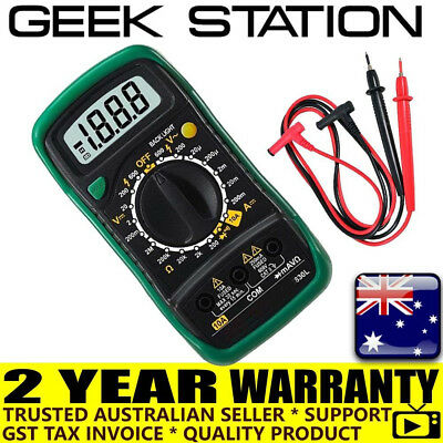 Digital Multimeter XL830L 600 Volt Meter Ammeter Ohmmeter Yellow Tester ZX