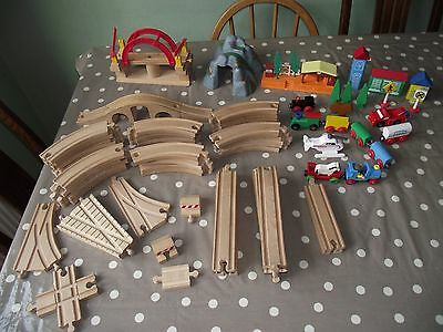 Job Lot Wooden Train Track, Bridges and Accessories - Brio etc