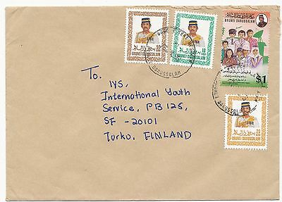 Brunei Darussalam 1995 year against drug abuse stamp on cover to Finland