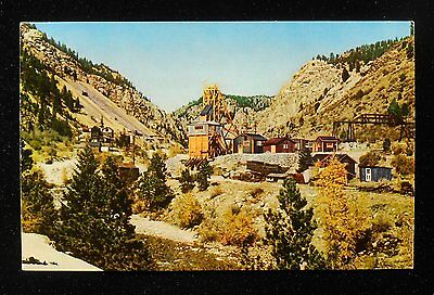 1950s Gold Mining Mine Unknown Location Wooden Buildings Postcard