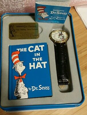The Cat in the Hat 40th Anniversary Watch Dr. Seuss Rare 1957 1997 Colletector
