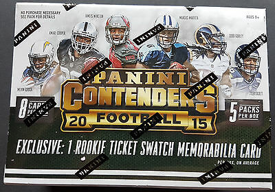 NFL Panini Contenders 2015 Football 8-Pack Box Sealed/OVP 1 Hit!!