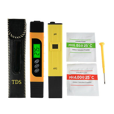 Digital TDS EC Meter + PH Tester Paper Aquarium Pool Water Test Pen Stick BI717