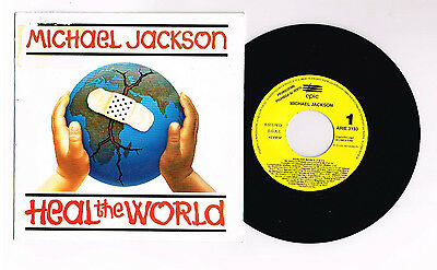 "Michael Jackson ""heal The World"" Spanish Promo  7"" Mega  Rare"