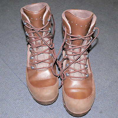 British Army Haix Combat High Liability Brown Leather Boots