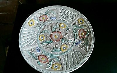 Pottery Plate with Floral Decoration by HJ Wood Ltd, Burslem, England