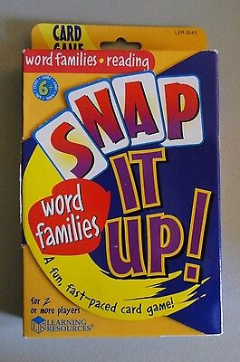 Snap It Up Word Families Card Game - Reading, Spelling, Phonic Skills