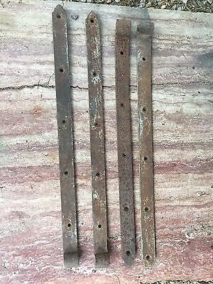Set of 4 Antique Rustic Barn Strap Hinges