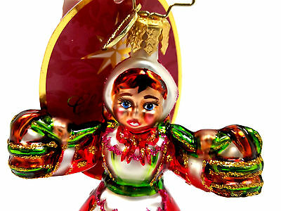 New NWT 2013 Radko 8 MAIDS A MILKING BLOWN GLASS 12 Day of Christmas Ornament