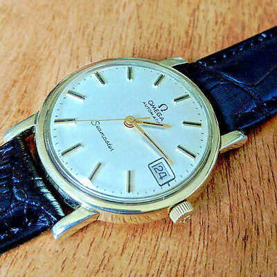 Vintage Omega Seamaster Date 10K GF 4x Signed Calibre 563 Swiss Watch ~1972