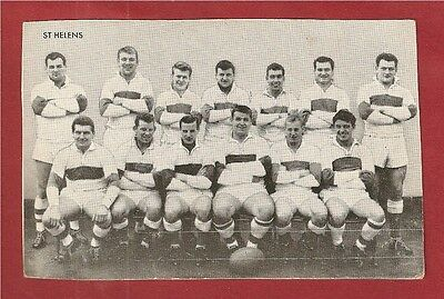 St HELENS RLFC  Star Team of 1961 PLAYERS NAMED Challenge Cup Winners