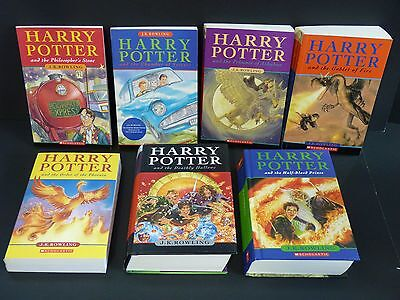 HARRY POTTER Complete Book Set 1-2-3-4-5-6-7 by J.K. Rowling