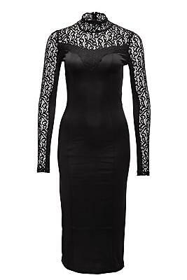 Only Damen Etuikleid Cocktail Abend Kleid Spitze Lace Dress Black SALE %