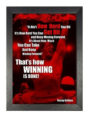 Rocky Balboa 41 Inspirational Motivational Quote Sylvester Stallone Poster Boxer