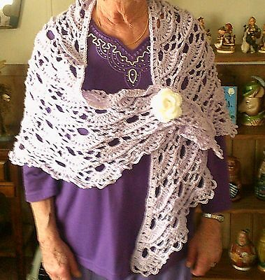 Triangle Prayer Shawl,hand crochet,great as a Gift for any one ,elegant ,look