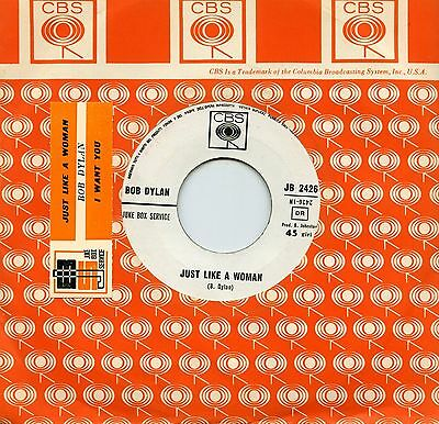 """Bob Dylan Just Like A Woman I Want You Rare 7"""" Italy Promo Jb Sticker"""