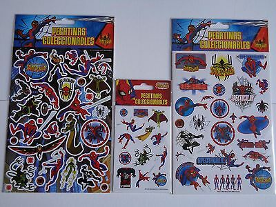 3 PAQUETS DE STICKERS ( 8 planches )    SPIDERMAN    NEUF/BLISTERS