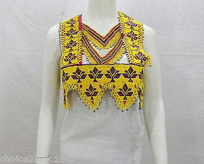 Kuchi Afghan Banjara Belly Dancing Handmade Vintage Beaded TOP Bolero TOP BT-05