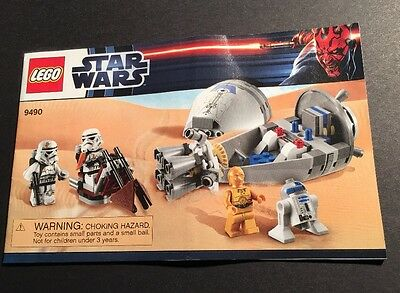 Lego Star Wars 9490 Droid Escape Manual Instructions Only