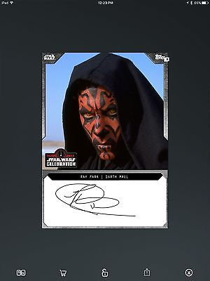 Topps Star Wars SWCT Live Signature Ray Park Darth Maul