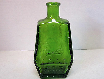 WHEATON REPRO 1971 R.I.P. Coffin Shaped GREEN POISON BOTTLE 5 1/4""