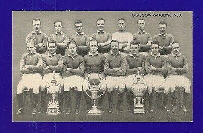 GLASGOW RANGERS 1930 Team Photo The GERS   Famous Team  TEAM NAMED on back
