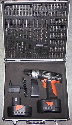 Perceuse Sans Fil 14,4V Workpro Coffret 2 Batteries Embouts Forets Meches