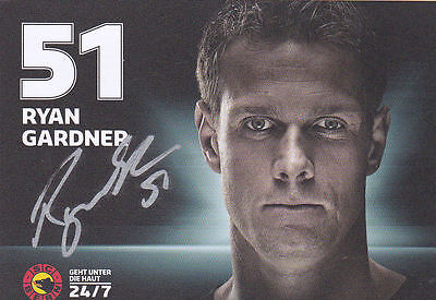Ryan Gardner (Swiss Olympian) signed photocard
