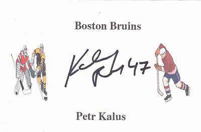 Petr Kalus (Ex-Boston Bruins & Minnesota Wild) signed card