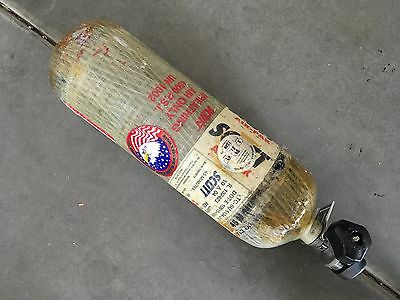 Scott 4500psi 45min Carbon SCBA Air Pak Bottle Cylinder Breathing Tank Mfr 2004