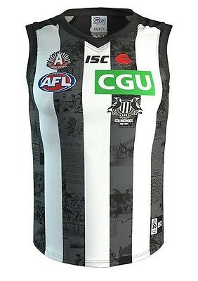 Collingwood Magpies AFL 2017 ISC Anzac Day Guernsey Adults & Kids Sizes!