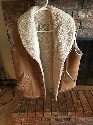 Vintage William Barry; Brandon, Colorado Men's Sheepskin Western Vest Medium