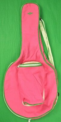 Wasp 'Bumblebee' c60s Pink & Lime Green Tennis Racquet Cover