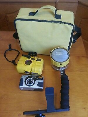SeaLife ReefMaster RC Outfit- SL960 External Flash, SL201 35MM Camera, Case