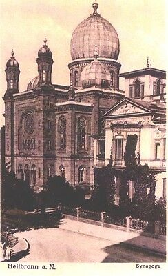 G-659 Judaica Jew Heilbronn Synagogue Destroyed By Nazi Photocopy Pre-1918 Card