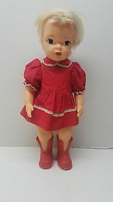 "Terri Lee Doll Blonde Hair Brown Eye Antique 1950's Hard Plastic 16"" Collectible"