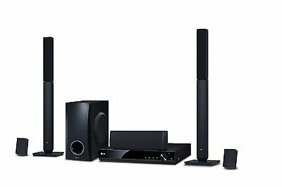 LG DH4430P 5.1 Channel 330W DVD Home Cinema System Surround Sound 1080 Upscaling