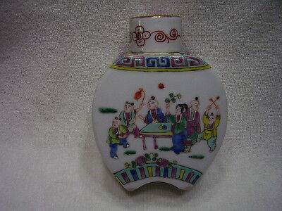Estate Qing 19C Antique Chinese Famille Verte Rose Porcelain Tea Caddy Lidded