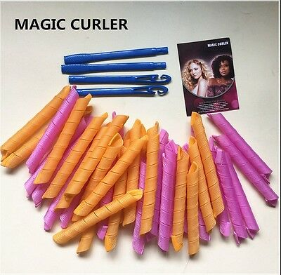 75/65/55CM Curl DIY Hair Curlers Tool Styling Rollers Spiral Circle Magic Roller