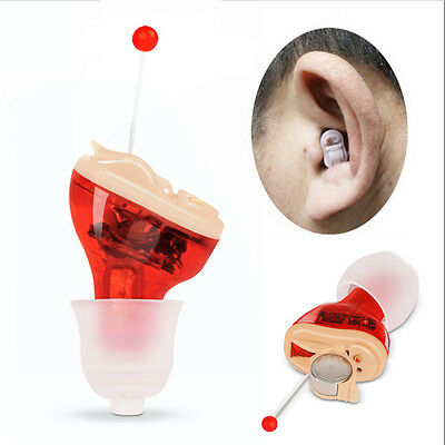 MiNi Digital Hearing Aid Cic Invisible Small Sound Voice Tone Amplifier Enhancer