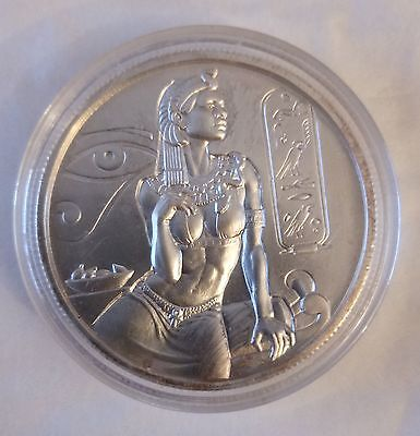 Cleopartra - Ancient Egypt - Encapsulated Ultra High Relief 2Oz Silver .999