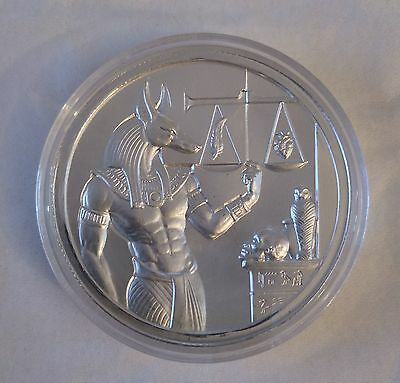 Anubis - Ancient Egypt - Encapsulated Ultra High Relief 2Oz Silver .999