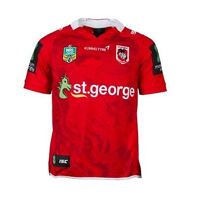 St George ILL Dragons NRL ISC Away Red Dragon Jersey Adults & Kids Sizes! 6
