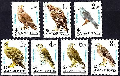 Hungary 1983 WWF - Birds of Prey, Complete Set of stamps MNH