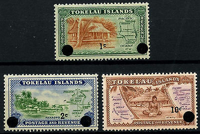 Tokelau 1967 SG#9-11 Definitives Surch MNH Set #D49868